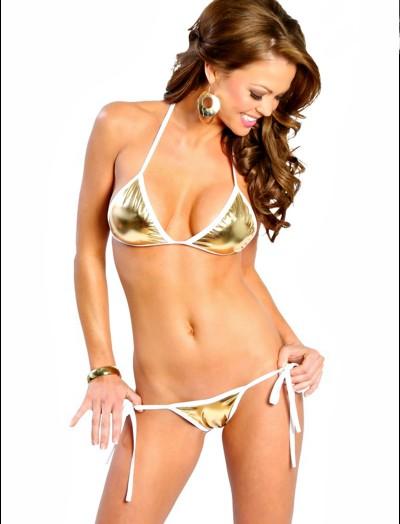 ReyonGO Fantazi Altın Sarısı Sütyen Kilot Takım Seksi Bikini-Mayo