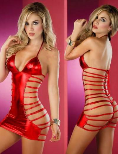 ReyonGO Fantazi Aşk Kırmızısı Seksi İç Giyim Gecelik