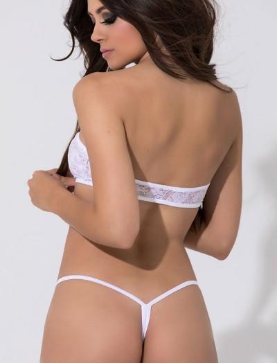 ReyonGO Beyaz Fantazi Dantelli Sütyen Kilot Seksi İç Giyim