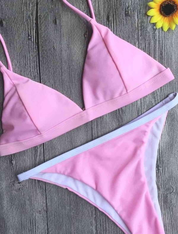 ReyonGO Açık Pembe Bikini Takım