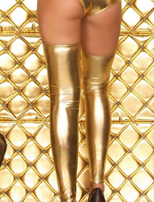 ReyonGO Altın Rengi Parlak Çorap