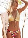 ReyonGO Bağlamalı Çiçekli Bikini Alt Çok Renkli