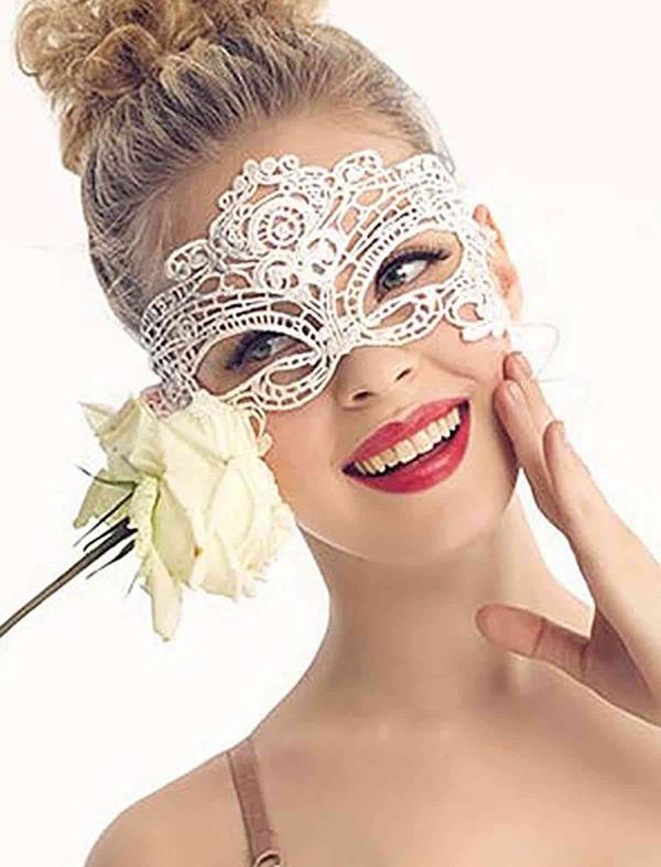 ReyonGO Beyaz Dantel Göz Maskesi