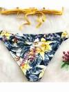 ReyonGO Çiçekli Bikini Alt Çok Renkli