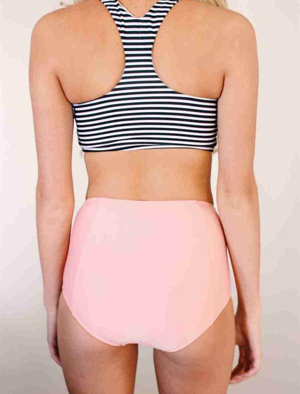 ReyonGO Çizgili Tankini Bikini Üst Çok Renkli
