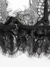 ReyonGO Dantel Seksi Sütyen Külot Takım Siyah