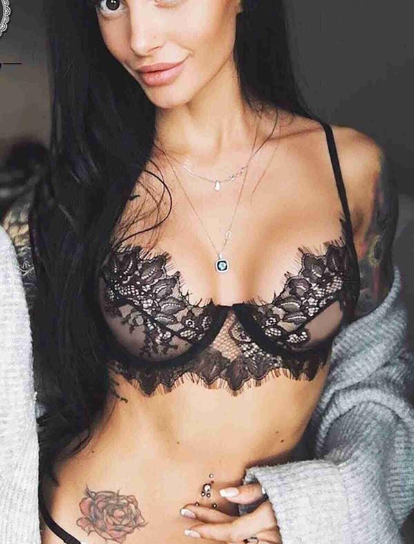 ReyonGO Dantel Seksi Sütyen Siyah