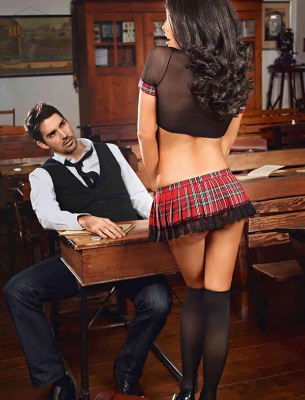 ReyonGO Erotik Liseli Kız Kostümü