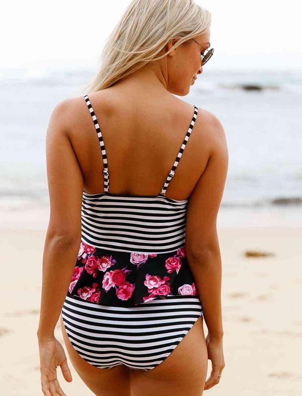 ReyonGO Etek Gürünümlü Destekli Bikini Üst