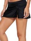 ReyonGO Etekli Bütün Bikini Alt Siyah