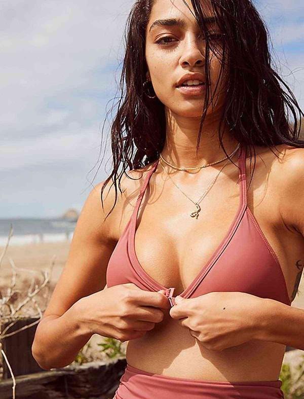 ReyonGO Gül Kurusu Yüksek Beli Bikini Takım