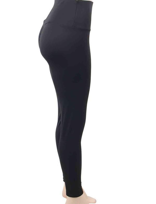 ReyonGO Kalça Tasarımlı Siyah Tayt