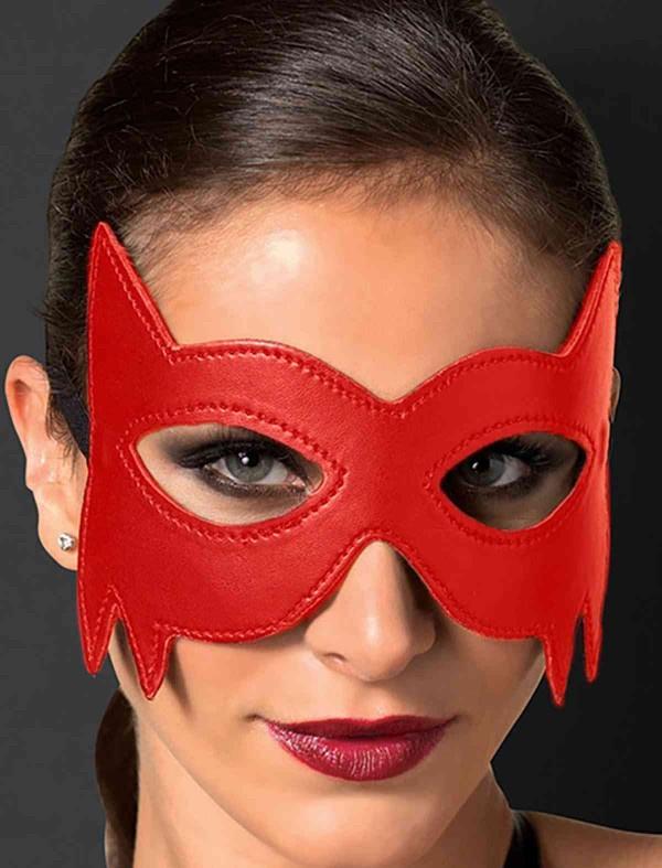 ReyonGO Kırmızı Deri Göz Maskesi