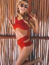 ReyonGO Kırmızı Özel Tasarım Bikini Takım