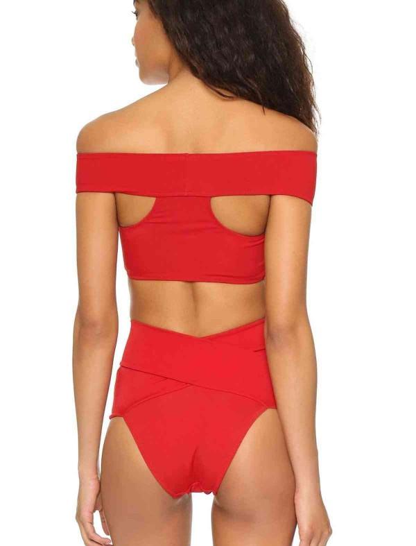 ReyonGO Kırmızı Özel Tasarım Bikini Üst