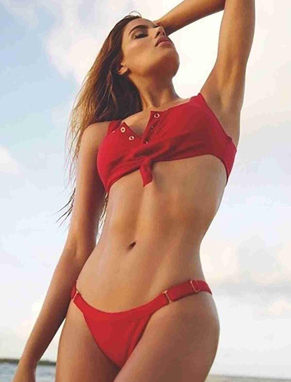 ReyonGO Kırmızı Şık Bikini Alt Kırmızı