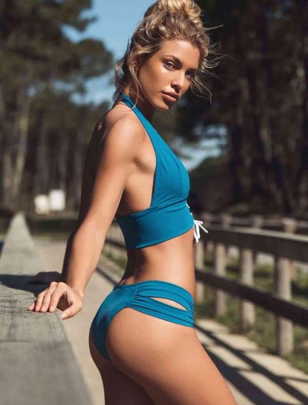 ReyonGO Mavi Bikini Takım