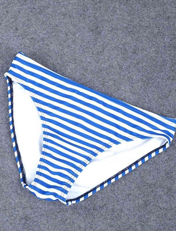 ReyonGO Mavi Cizgili Şık Bikini Takım
