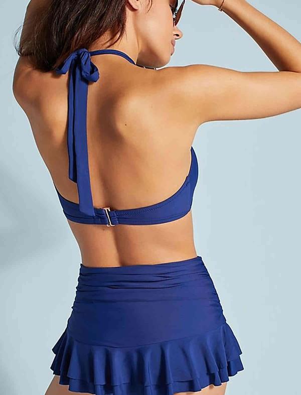 ReyonGO Mavi Etekli Bikini Takım