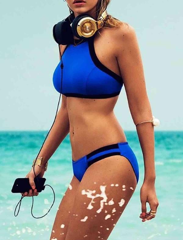 ReyonGO Mavi Şık Tankini Bikini
