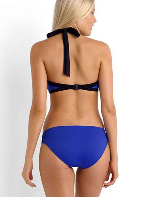 ReyonGO Mavi Şık Tankini Bikini Üst