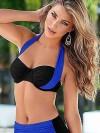 ReyonGO Mavi Siyah Bikini üst