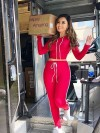 ReyonGO Penye Eşofman Pijama Takım Kırmızı
