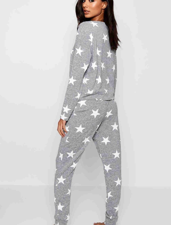 ReyonGO Penye Yıldızlı  Pijama Üst Çok Renkli