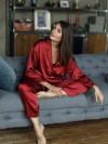 ReyonGO Saten Pijama Takım Kırmızı
