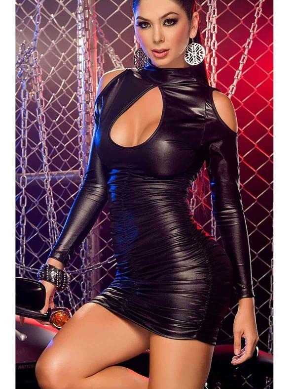 ReyonGO Seksi Deri Elbise