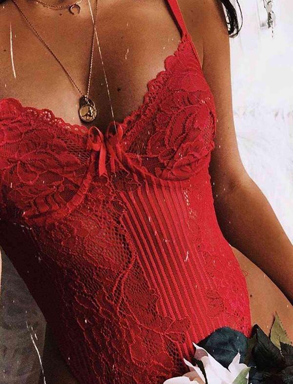 ReyonGO Sexy Body Fantazi İç giyim Kırmızı