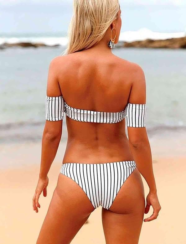 ReyonGO Şık Straplez Bikini Takım