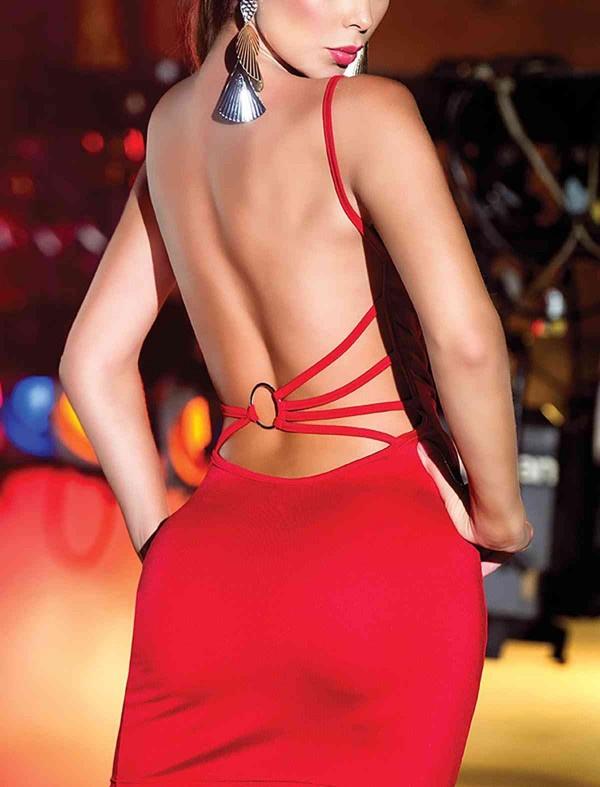 ReyonGO Sırtı Metal Aksesuarlı Kırmızı Mini Ebise