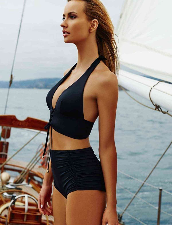 ReyonGO Siyah Şık Bikini Üst