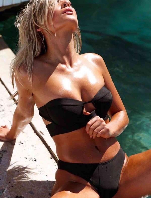 ReyonGO Siyah Straplez Bikini Takım