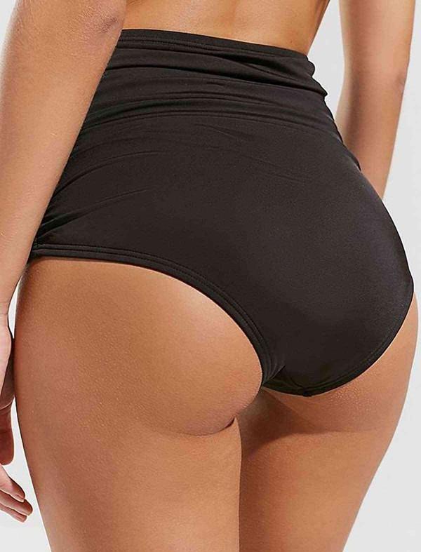 ReyonGO Siyah Yüksek Bel Bikini Takım
