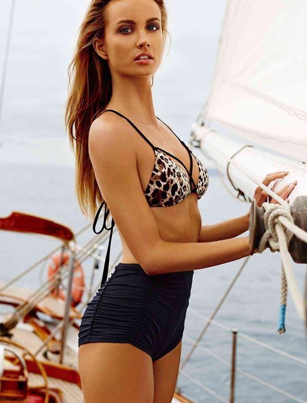 ReyonGO Siyah Yüksel Bel Şık Bikini Alt