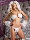 ReyonGO Tüylü Tavşan Kız Kostümü