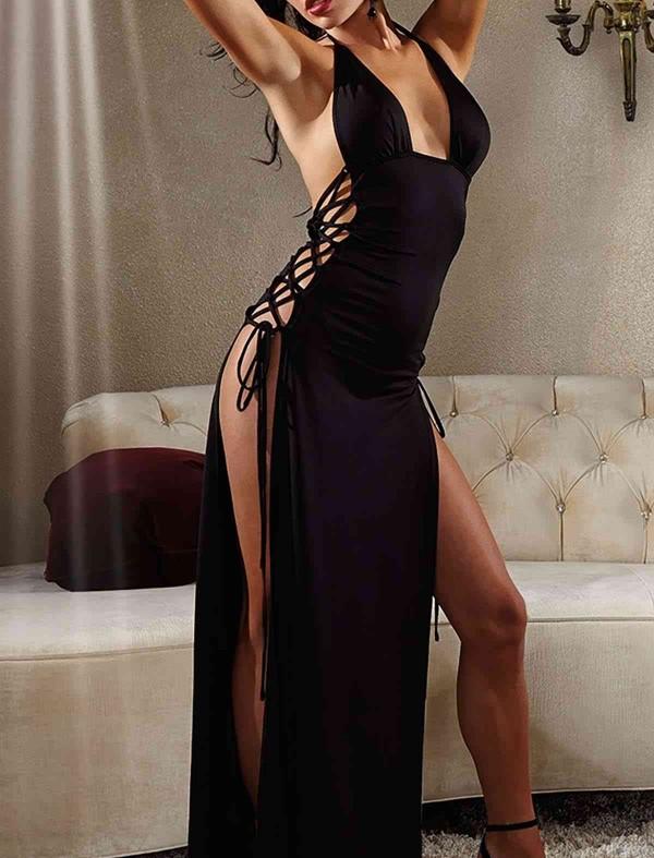 ReyonGO Uzun Fantazi Gece Elbisesi
