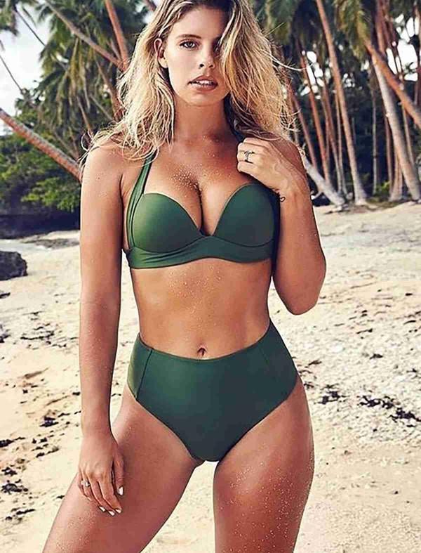 ReyonGO Yeşil Yüksek Bel Bikini Alt Yeşil