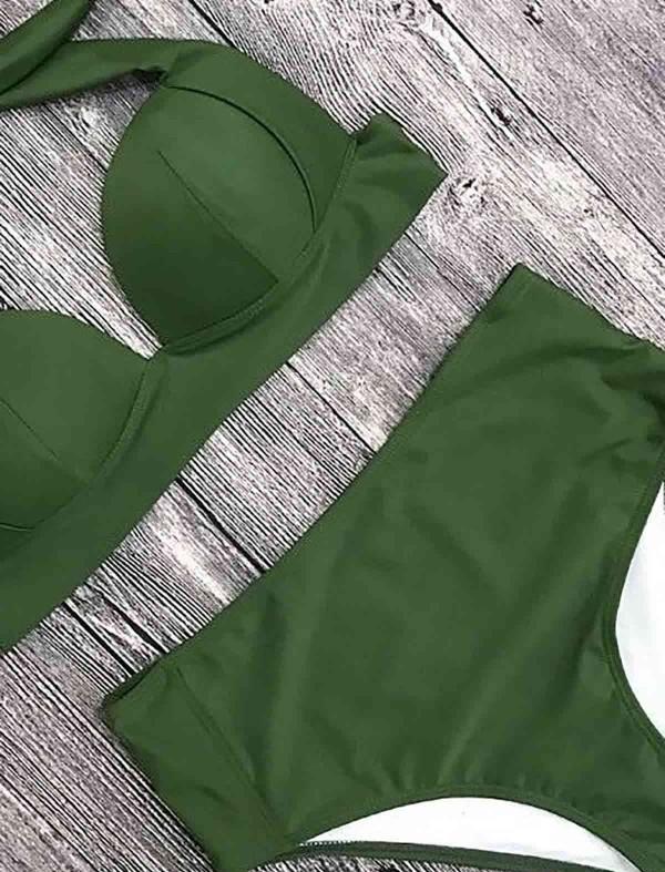 ReyonGO Yeşil Yüksek Bel Bikini Takım