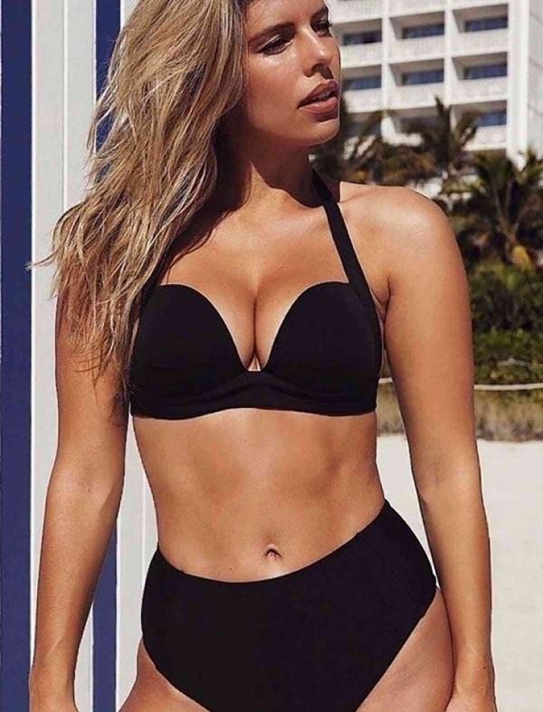 ReyonGO Yüksek Bel Siyah Şık Bikini Takım